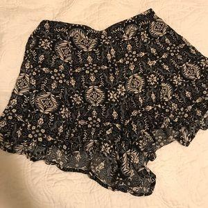 Lush flowy shorts.